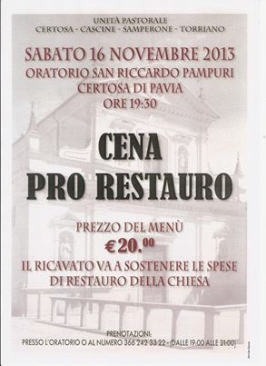 cena in Oratorio