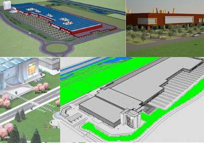 Alcune simulazioni grafiche del Centro Commerciale di Borgarello